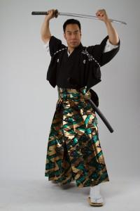 Samurai Hayashi - Green Hakama Power Pose