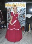 Cosplayfoto vor unserer Fotocollage auf der FBM 2009